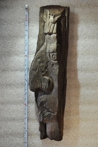 Smithsonian National Museum of Natural History (#A247221), a wooden fragment from Peten, Guatemala.