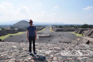 Yo, en Teotihuacan.